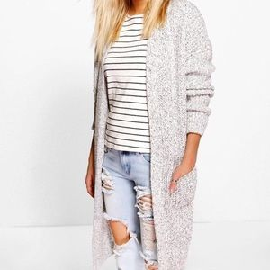 Sweaters - NEW Oversized Knit Cardigan Front Pockets M/L